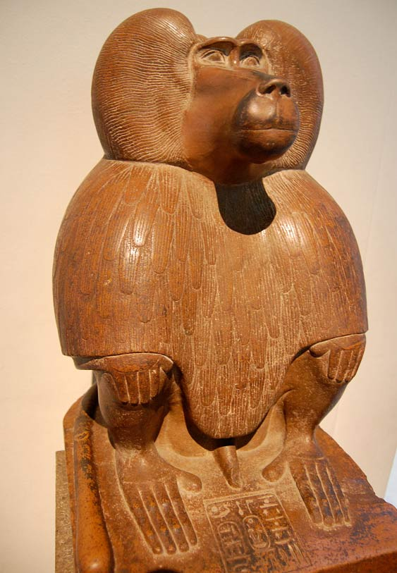 Depiction of Thoth as a baboon, circa 1400 BC.