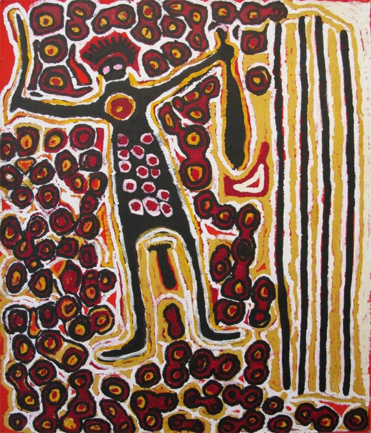 Harry Tjutjuna, 2007, Pitjantjatjara, Wati Nyirunya ('L'Homme Nyiru').  (Image: © l'artiste, avec la permission du Ninuku Art Center)