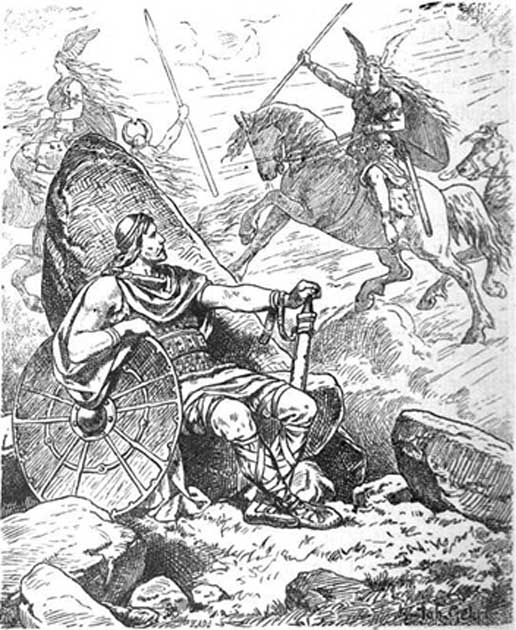 Helgi and Sigrún by Johannes Gehrts.