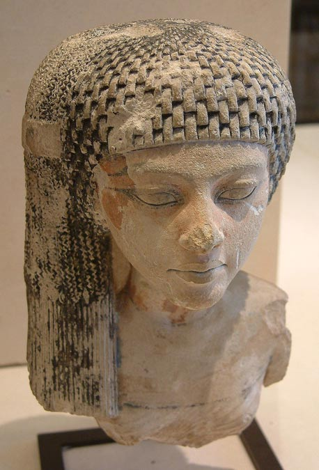 Bust of Meritaten, daughter of Pharaoh Akhenaten.