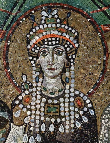 Mosaic of Theodora at the Basilica of San Vitale, Ravenna