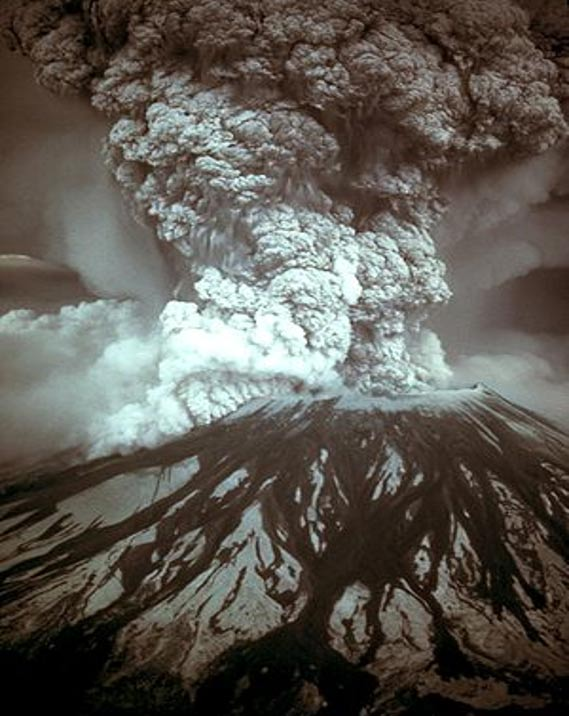 Mount St. Helens erupted on May 18, 1980, at 08:32.