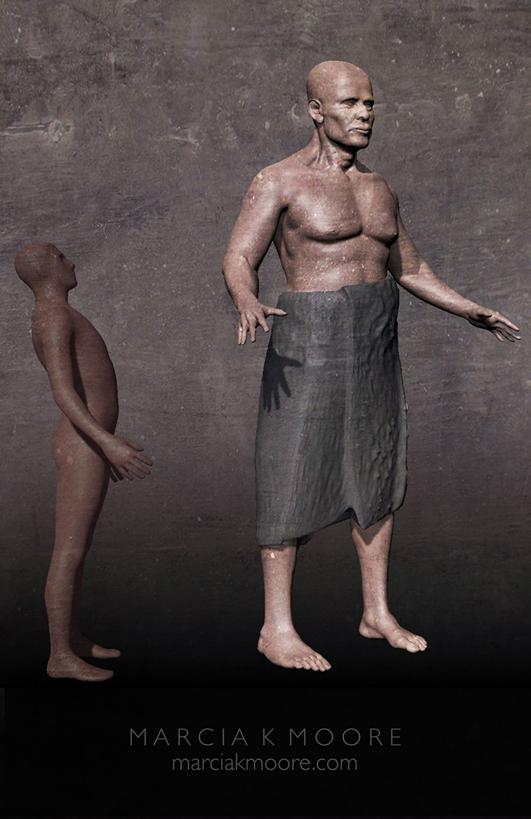 Representación artística del gigante norteamericano.  Crédito: Marcia K Moore / Ciamar Estudio
