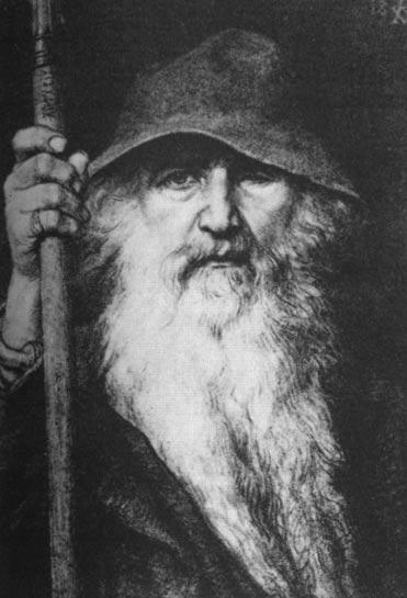 Odin el Vagabundo (1896) de Georg von Rosen.