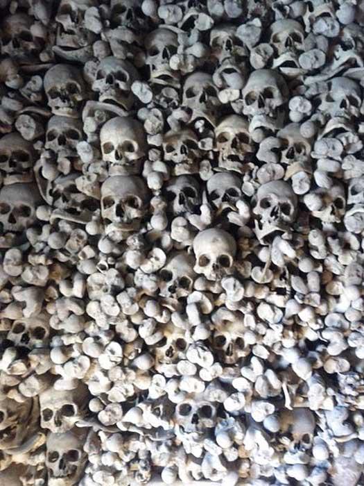 Ossuary in Wamba (Valladolid, Spain).