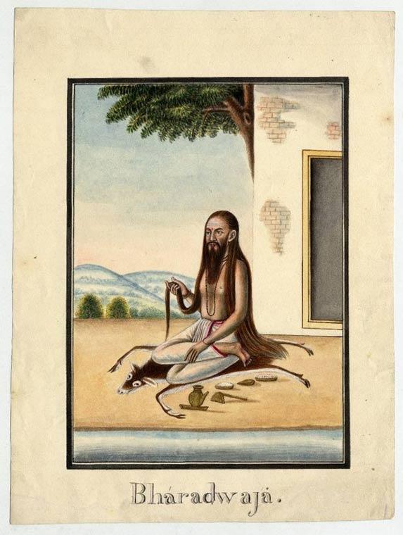 Pittura di Bharadwaja, ha detto di essere uno dei più grandi saggi indù