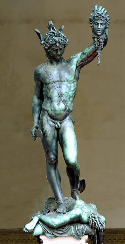 'Perseo con la testa di Medusa' di Benvenuto Cellini.  1545 - 1554 - Firenze.
