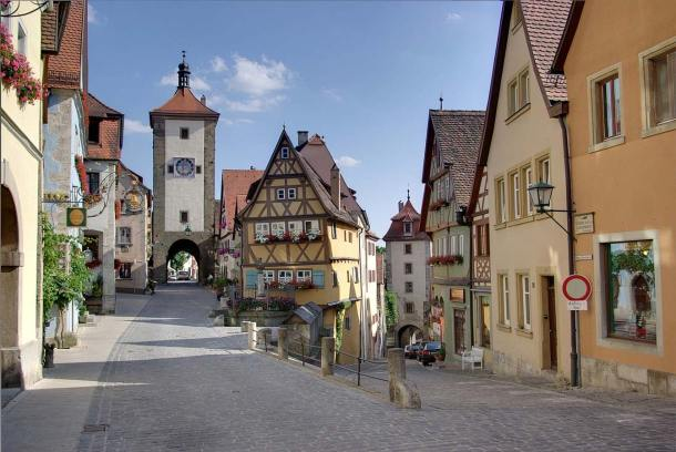 Image result for Where the Middle Ages remained alive: Rothenburg ob der Tauber