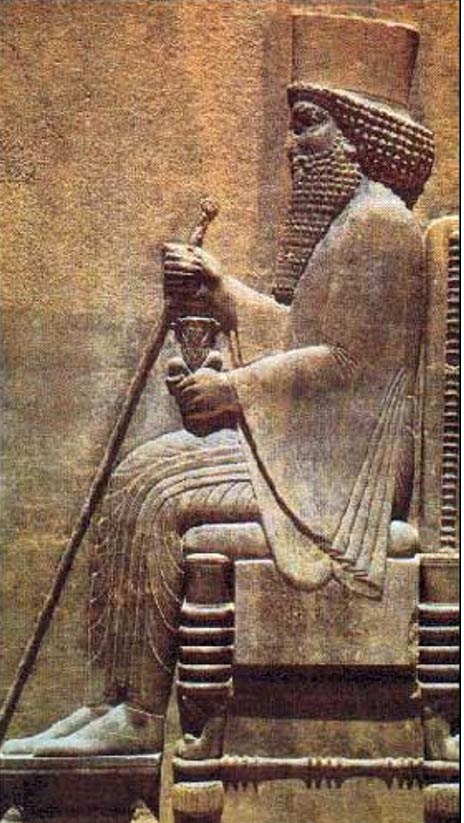 Relief carving of Darius the Great