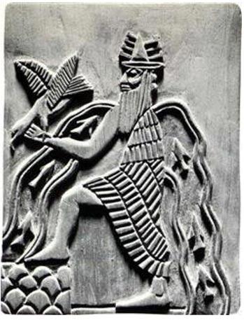 Imagen del dios sumerio Enki.