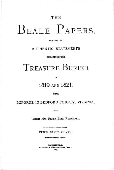 Couverture de «The Beale Papers».  (Domaine public)