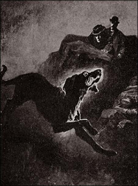 Illustrazione da 'Il mastino dei Baskerville.'