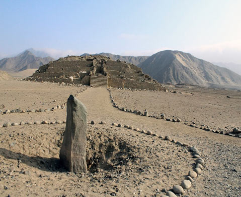 The 5,000-year-old Pyramid City of Caral The-monolith-Huanca-in-Caral