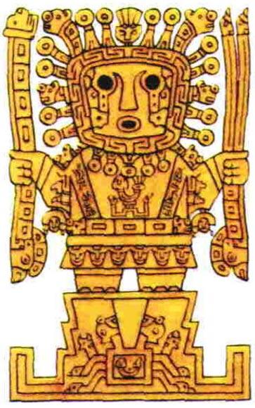 Viracocha, el dios creador de los Incas.