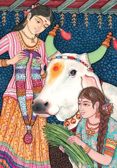 La creencia hindú antigua tiene vacas como símbolos de la abundancia, el poder y las donaciones altruistas.