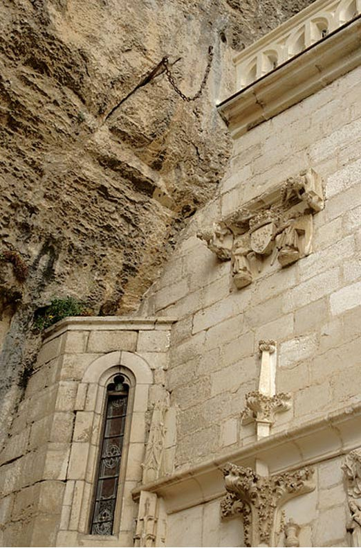 The embedded stone in Rocamadour, Lot, France