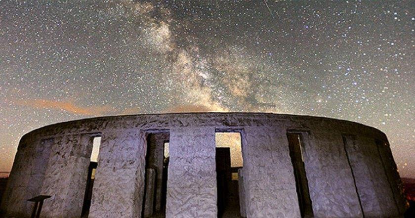 Stonehenge at night.