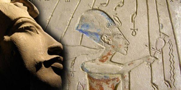 Akenatón, el alivio de los pilones de la casa de Panehsy, Jefe Servidor de Atón. Representa Akenatón hacer ofrendas a Atón.