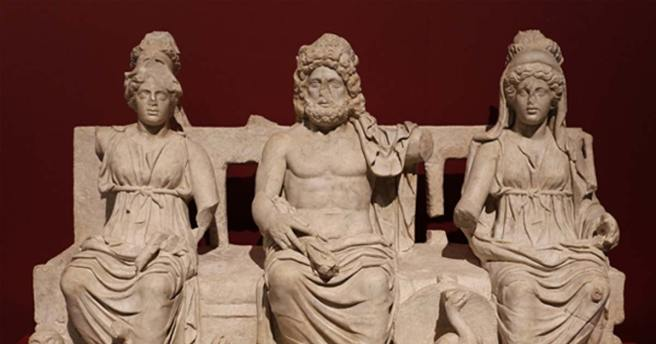 La triade capitoline, le musée de Guidonia.