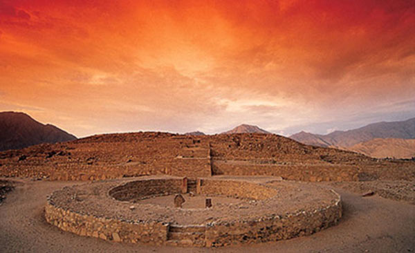 The 5,000-year-old Pyramid City of Caral Ancient-site-of-Caral%2C-Peru