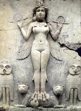 A relief carving of Ishtar
