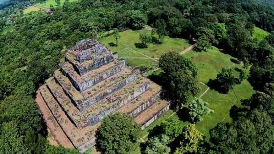 Aerial view of the Koh Ker site