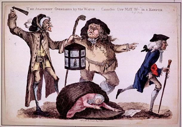L'anatomiste dépassé par la montre de William Austin, 1773.