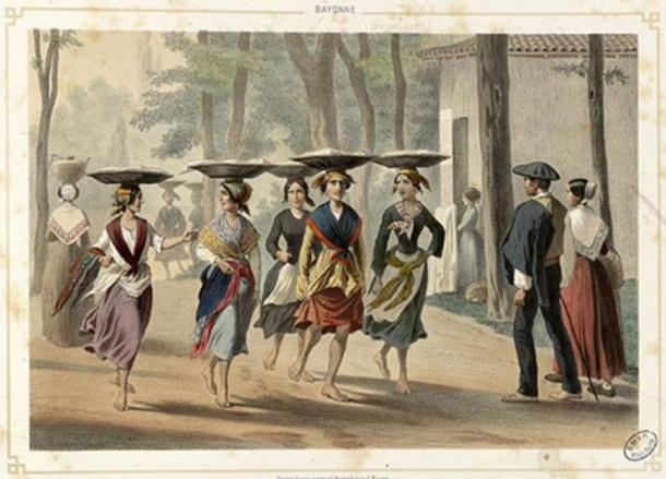 Donne basche a Bayonne (1852).