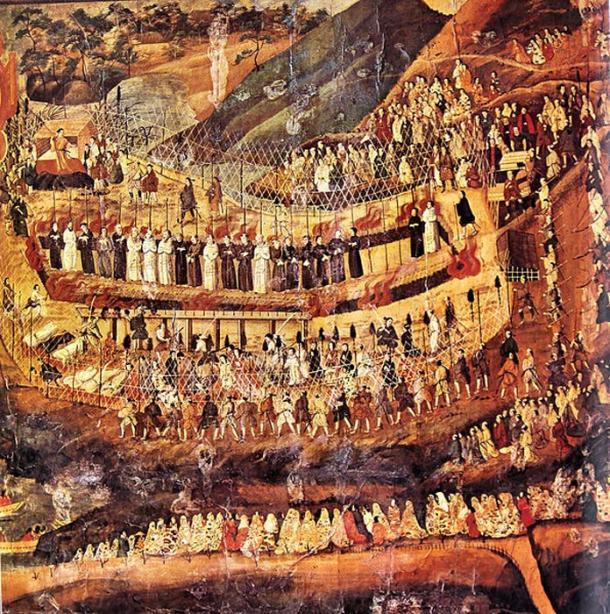 Christiani Martiri di Nagasaki in Giappone.  (C. 17 ° secolo)