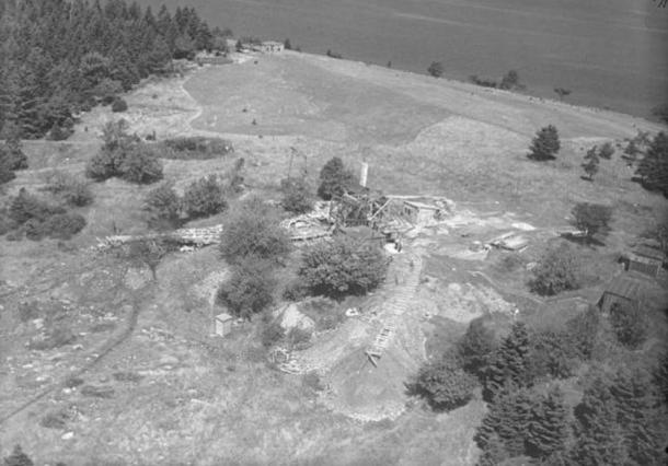 Digs and Buildings, Oak Island, Nova Scotia, Canada, August 1931.