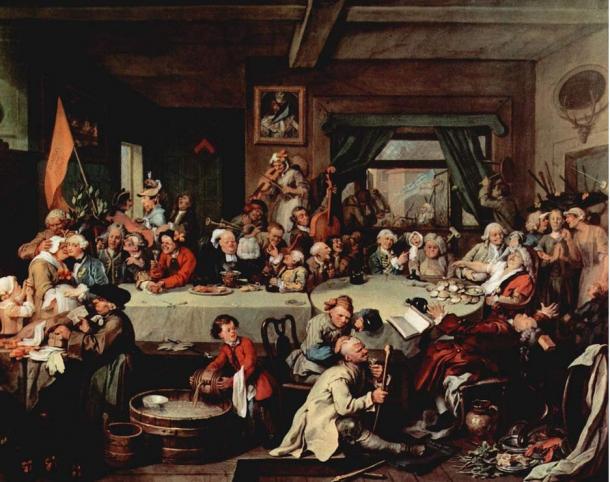 Un Spettacolo Elezione. Di William Hogarth