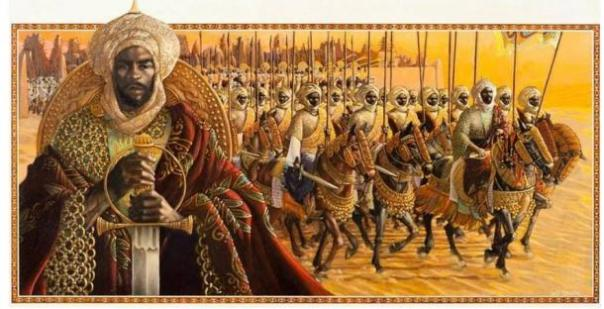 """Representación artística del """"Imperio de Mansa Musa"""