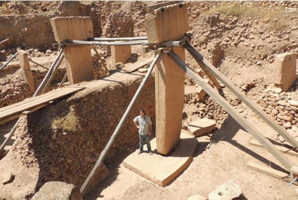 Enorme pilastri a forma di T a Göbeklitepe.
