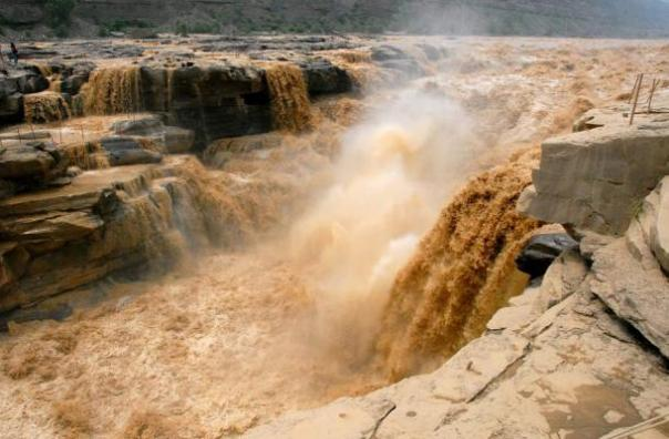 Hukou Cascada del río Amarillo, China.