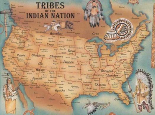 Карта расселения индейских народов