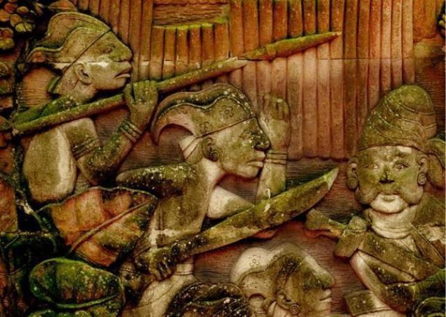 Malay warriors of ancient Singapura - La Piedra de Singapur