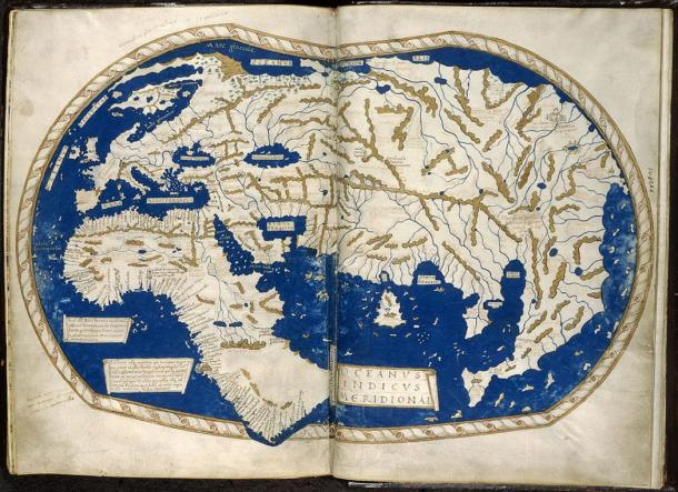 Mappa precedente Martellus 'prodotta nel 1489