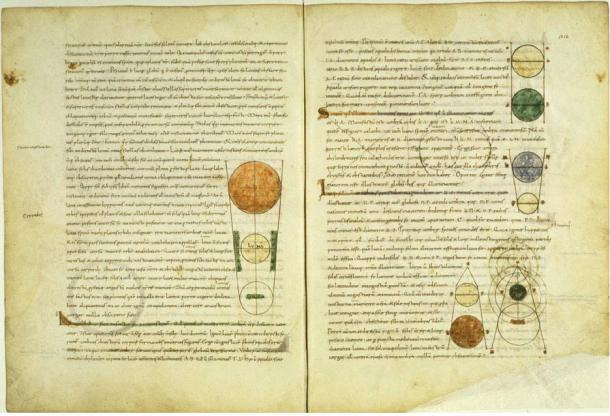 Medieval manuscript of Plato's Timeas, Latin translation.