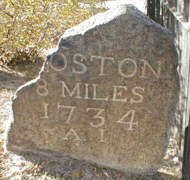 Milestone along the King's Highway, the oldest road in continuous use in the nation.
