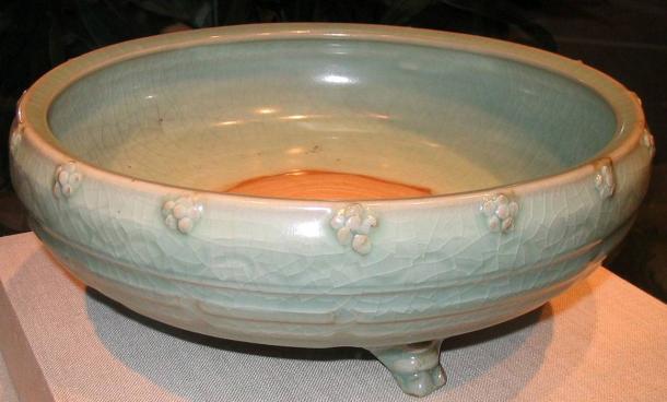 A Ming Dynasty Longquan celadon from Zhejiang, 14-15th century.