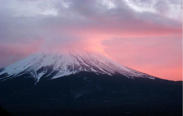 Mount Fuji on a serene day.