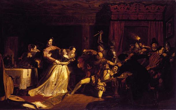 Le meurtre de David Rizzio, peint en 1833 par William Allan.