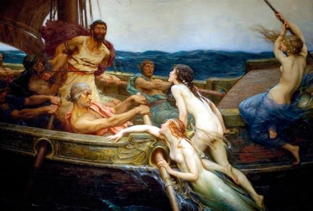 Odysseus and the Sirens by Herbert James Draper, c. 1909