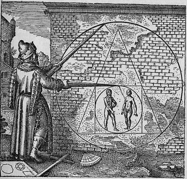 """Philosopher's stone"" as pictured in Atalanta Fugiens Emblem 21. (1617)"