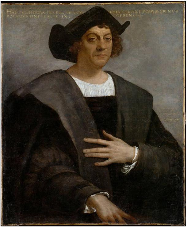 Portrait said to be of Christopher Columbus