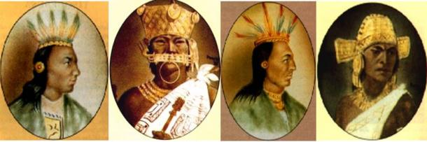 Portraits of rulers of Muisca