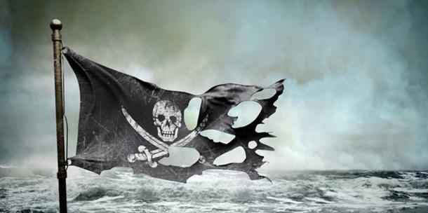 Drapeau de pirate déchiré. (adimas / Adobe)