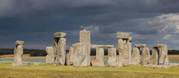 Stonehenge, Wiltshire, in Inghilterra.  2014.