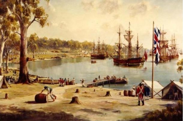 Sydney Cove, Prima Flotta, 1788, in Australia