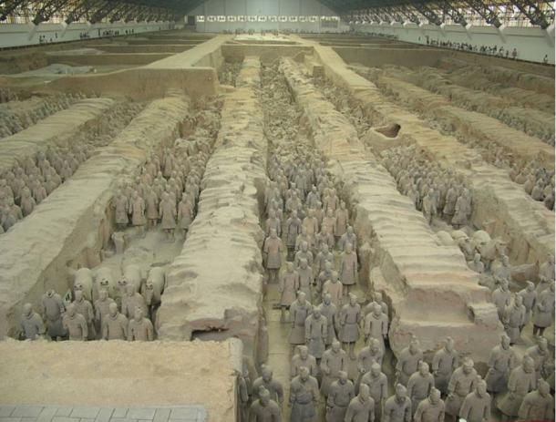 Terracotta Warriors and Horses, is a collection of sculptures depicting the armies of Qin Shi Huang, the first Emperor of China. Xi'an, China
